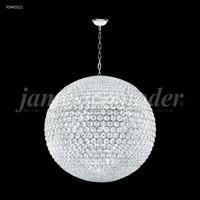 James R. Moder 95940S11 Sun Sphere 32 Light 40 inch Silver Entry Chandelier Ceiling Light, Large