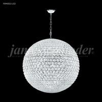 James R. Moder 95940S11LED Sun Sphere LED 40 inch Silver Chandelier Ceiling Light