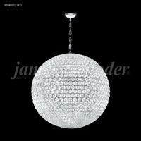 James R. Moder 95940S22LED Sun Sphere LED 40 inch Silver Chandelier Ceiling Light