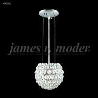 James R. Moder 95950S22 Sun Sphere 1 Light 5 inch Silver Crystal Chandelier Ceiling Light