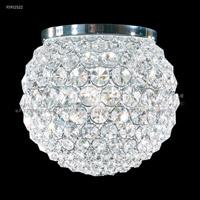 James R. Moder 95952S22 Sun Sphere 3 Light 8 inch Silver Flush Mount Ceiling Light