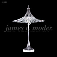 James R. Moder 95965S00 Contemporary Collection 24 inch 60 watt Silver Table Lamp Portable Light