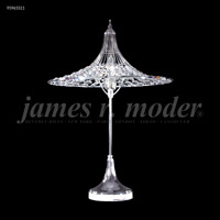 James R. Moder 95965S11 Contemporary Collection 24 inch 60 watt Silver Table Lamp Portable Light
