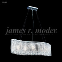 James R. Moder 95981S22 Fashionable Broadway Collection 5 Light 7 inch Silver Chandelier Ceiling Light