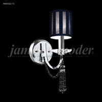 James R. Moder 96001S11 Tassel Collection 1 Light Silver Wall Sconce Wall Light