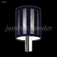 James R. Moder 96004S-71 Non-tilt Black Striped Fabric Shade