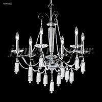 James R. Moder 96006S00 Tassel Collection 6 Light 27 inch Silver Chandelier Ceiling Light