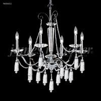 James R. Moder 96006S11 Tassel Collection 6 Light 27 inch Silver Chandelier Ceiling Light
