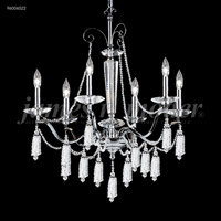 James R. Moder 96006S22-95 Tassel 6 Light 27 inch Silver Chandelier Ceiling Light
