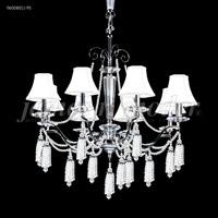 James R. Moder 96008S11-95 Tassel 8 Light 29 inch Silver Chandelier Ceiling Light