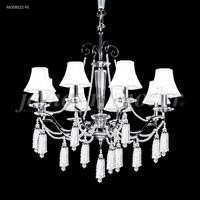 James R. Moder 96008S0B-95 Tassel 8 Light 29 inch Silver Chandelier Ceiling Light