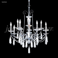 James R. Moder 96009S2B Tassel Collection 12 Light 30 inch Silver Chandelier Ceiling Light