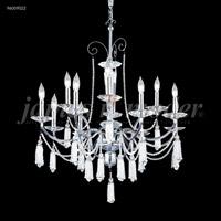 James R. Moder 96009S0JA Tassel Collection 12 Light 30 inch Silver Chandelier Ceiling Light