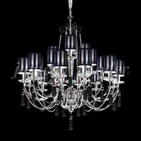 James R. Moder 96010S22 Tassel 21 Light 35 inch Silver Chandelier Ceiling Light