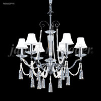 James R. Moder 96016S0P Pearl 6 Light 27 inch Silver Chandelier Ceiling Light