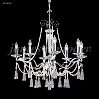 James R. Moder 96018S0P-95 Pearl 8 Light 31 inch Silver Chandelier Ceiling Light