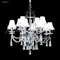 James R. Moder 96019S0P Pearl 12 Light 30 inch Silver Chandelier Ceiling Light