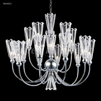 Medallion 15 Light 32 inch Silver Chandelier Ceiling Light