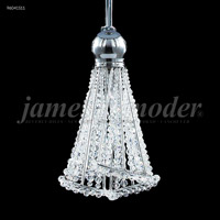 James R. Moder 96041S11 Jewelry 1 Light 4 inch Silver Crystal Chandelier Ceiling Light