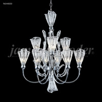 James R. Moder 96048S00 Jewelry Collection 9 Light 24 inch Silver Chandelier Ceiling Light