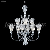 James R. Moder 96048S22 Jewelry Collection 9 Light 24 inch Silver Chandelier Ceiling Light