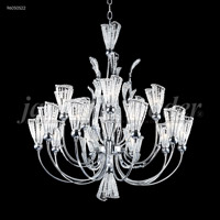 James R. Moder 96050S22 Jewelry Collection 15 Light 32 inch Silver Chandelier Ceiling Light