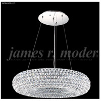 James R. Moder 96086S22 Contemporary 10 Light 28 inch Silver Crystal Chandelier Ceiling Light