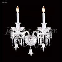 James R. Moder 96112S00 Le Chateau 2 Light Silver Wall Sconce Wall Light