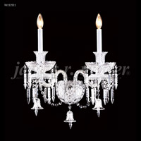 James R. Moder 96112S11 Le Chateau 2 Light Silver Wall Sconce Wall Light