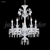 James R. Moder 96115S11 Le Chateau 5 Light 28 inch Silver Chandelier Ceiling Light