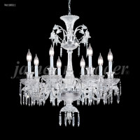 James R. Moder 96118S11 Le Chateau 8 Light 32 inch Silver Chandelier Ceiling Light