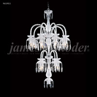 James R. Moder 96119S11 Le Chateau 12 Light 32 inch Silver Chandelier Ceiling Light