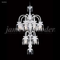 James R. Moder 96119S11 Le Chateau 12 Light 32 inch Silver Chandelier Ceiling Light