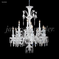 James R. Moder 96122S22 Le Chateau 12 Light 32 inch Silver Chandelier Ceiling Light