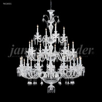 James R. Moder 96126S11 Le Chateau 28 Light 54 inch Silver Entry Chandelier Ceiling Light Large