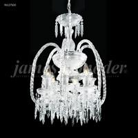 James R. Moder 96127S00 Le Chateau 6 Light 18 inch Silver Mini Chandelier Ceiling Light