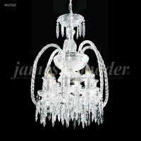 James R. Moder 96127S22 Le Chateau 6 Light 18 inch Silver Crystal Chandelier Ceiling Light
