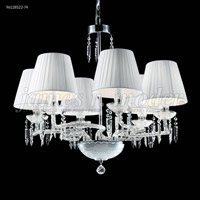 James R. Moder 96128S22-74 Le Chateau 6 Light 27 inch Silver Crystal Chandelier Ceiling Light