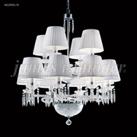 James R. Moder 96129S11-74 Le Chateau 12 Light 34 inch Silver Crystal Chandelier Ceiling Light