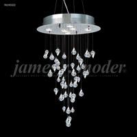 James R. Moder 96145S22 Medallion Collection 6 Light 20 inch Silver Chandelier Ceiling Light
