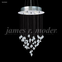 James R. Moder 96155S22 Medallion Collection 4 Light 19 inch Silver Chandelier Ceiling Light