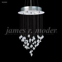 James R. Moder 96155S22 Medallion Collection 4 Light 19 inch Silver Chandelier Ceiling Light