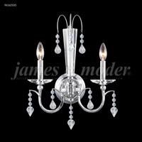 James R. Moder 96162S00 Medallion 2 Light Silver Wall Sconce Wall Light