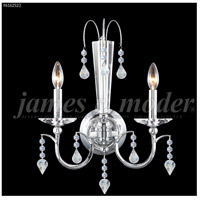 James R. Moder 96162S22 Medallion 2 Light Silver Wall Sconce Wall Light