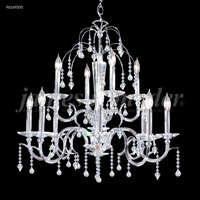 James R. Moder 96169S00 Medallion Collection 12 Light 29 inch Silver Chandelier Ceiling Light