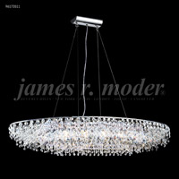 James R. Moder 96173S11 Continental Fashion 12 Light 14 inch Silver Crystal Chandelier Ceiling Light