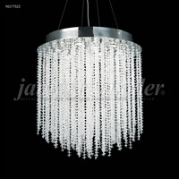 James R. Moder 96177S22 Continental Fashion 9 Light 28 inch Silver Chandelier Ceiling Light