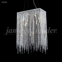James R. Moder 96179S22 Continental Fashion 16 Light 12 inch Silver Mini Chandelier Ceiling Light