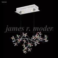 James R. Moder 96181S2X Continental Fashion 2 Light 9 inch Silver Crystal Chandelier Ceiling Light, Floral