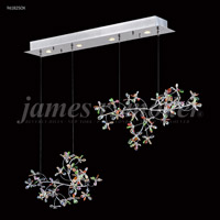 James R. Moder 96182S0X Continental Fashion 4 Light 9 inch Silver Crystal Chandelier Ceiling Light Floral